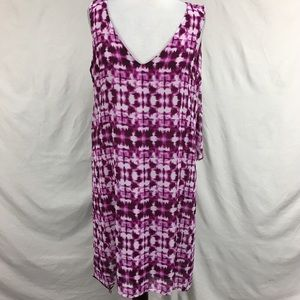 NWT Dana Buchman Purple Sleeveless Midi Dress